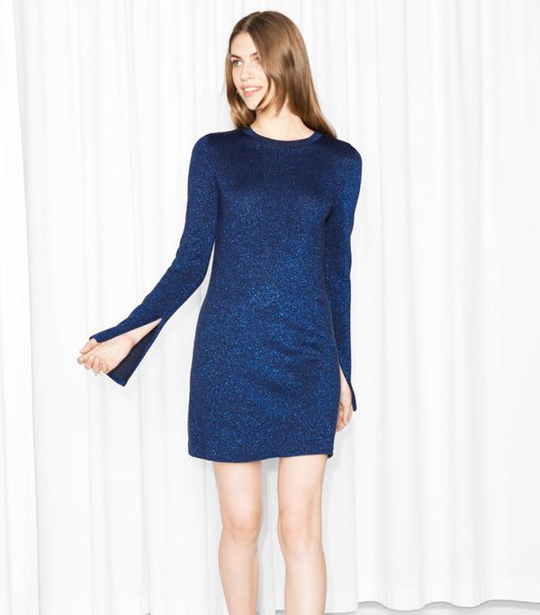& Other Stories Glitter Knit Dress