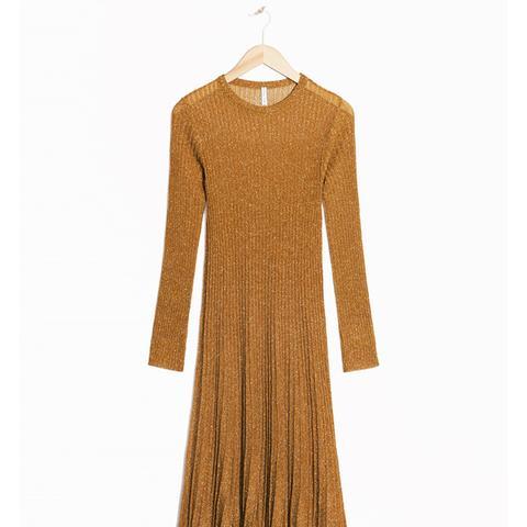 Textured Glitter Knit Dress