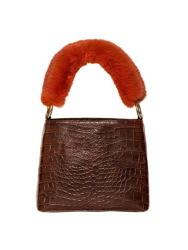 Pixie Market Croc Fur Handle Bag
