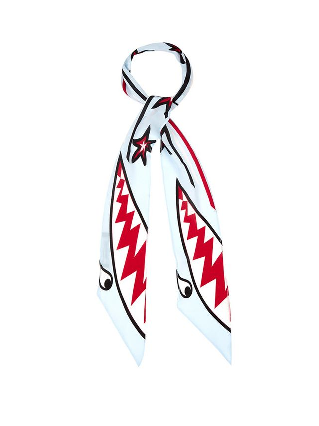 Rockins Shark-Print Super-Skinny Scarf