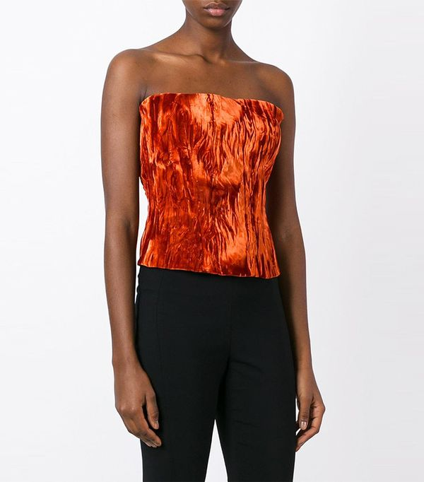 Haider Ackermann Creased Effect Strapless Top