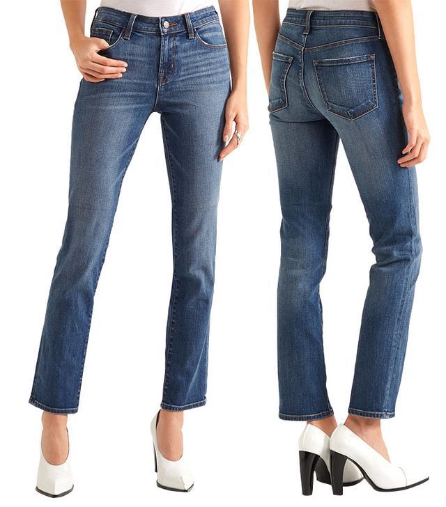 J Brand Amelia Mid-Rise Slim-Leg Jean