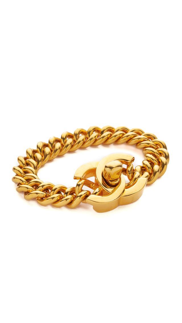 Chanel Vintage Medium Turn Lock Bracelet