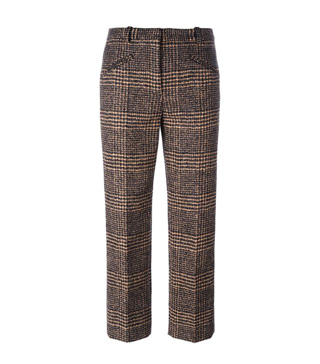 Sonia Rykiel Plaid Cropped Trousers