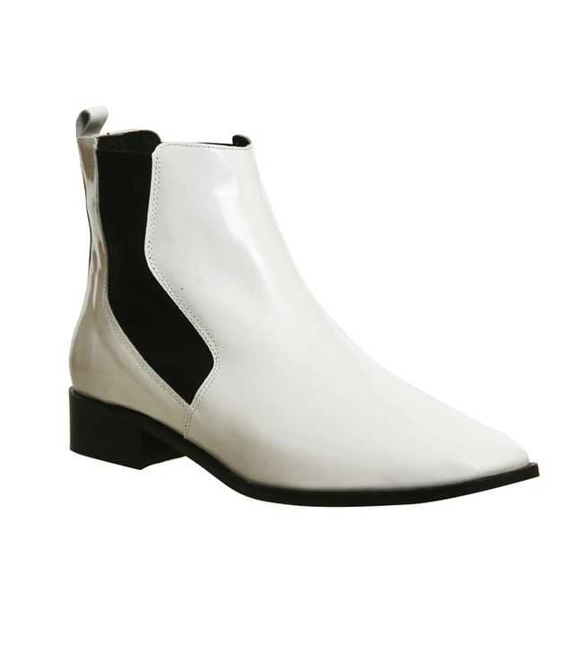 Office Luminate Chelsea Boots Off White Box Leather