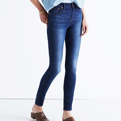 High-Rise Skinny Jeans in Polly Wash