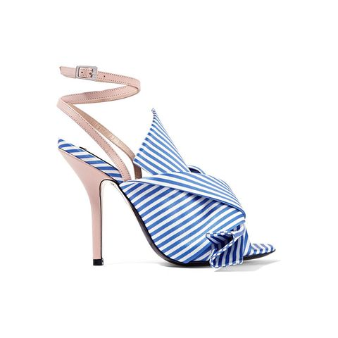 Knotted Stripe Strappy Sandals