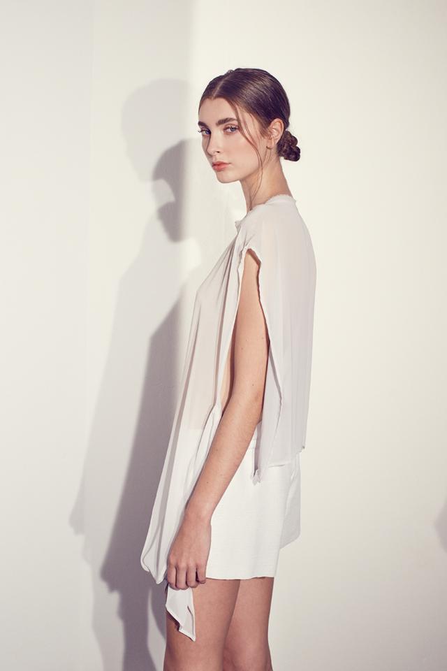 Kacey Devlin Respire Midi Dress White