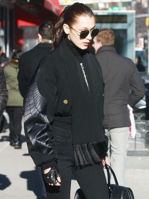 The Best Way to Wear Head-to-Toe Black, According to Bella Hadid