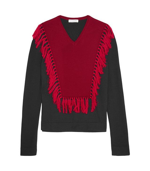 Altuzarra Ming Fringed Wool Sweater