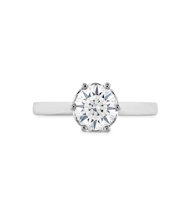 Hearts On Fire Signature Bezel Basket Engagement Ring