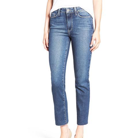 Jacqueline Raw Hem Ankle Skinny Jeans
