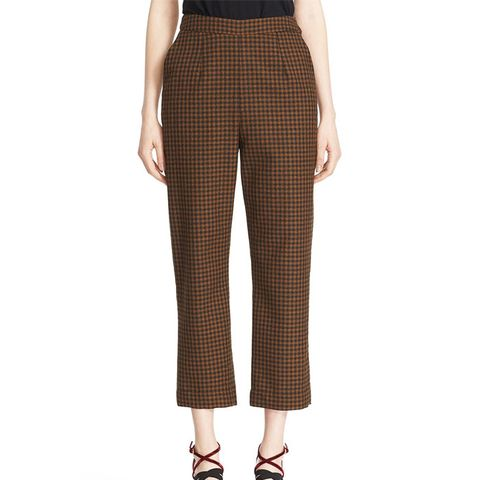 Classic Pantalone Check Wool Crop Pants