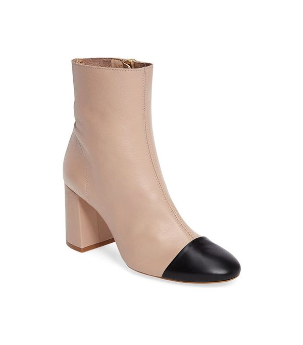 Topshop Happy Days Cap Toe Bootie