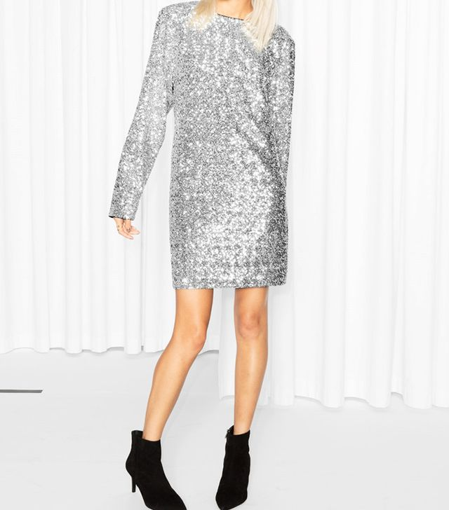 & Other Stories Sequin Dress