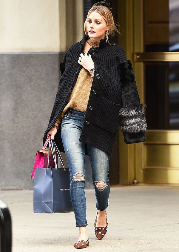 That time she reminded us how much we will always love skinny jeans + flats.