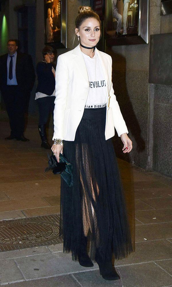 That time she wore a see-through skirt and totally owned it.
