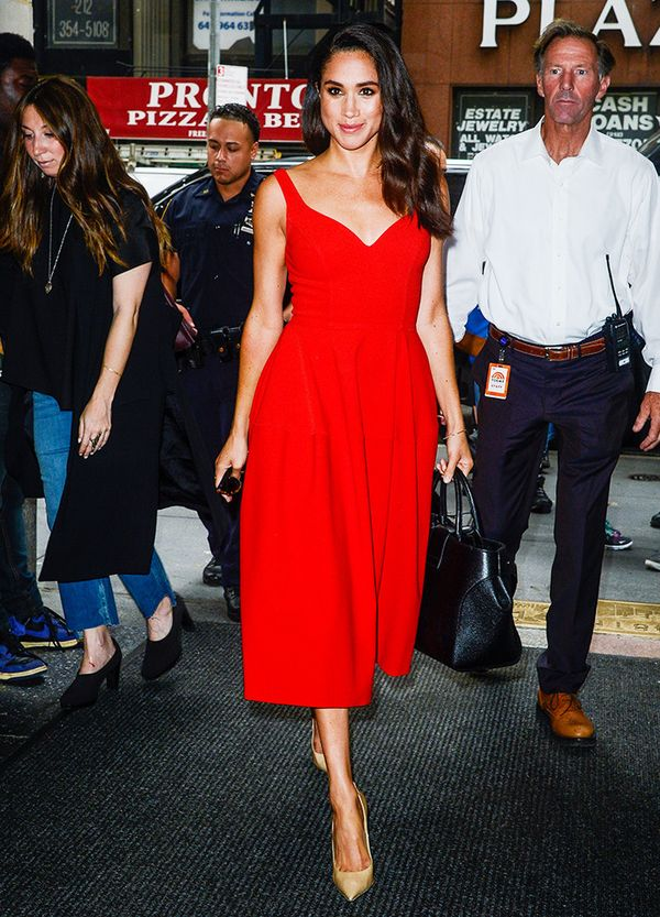 Meghan Markle style: If in doubt then opt for a knockout dress