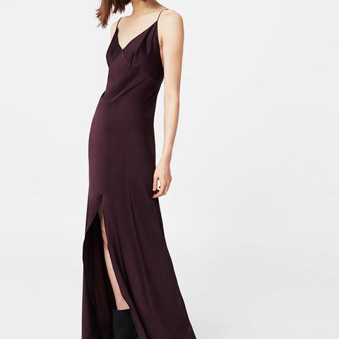 Cut-Out Silk Dress