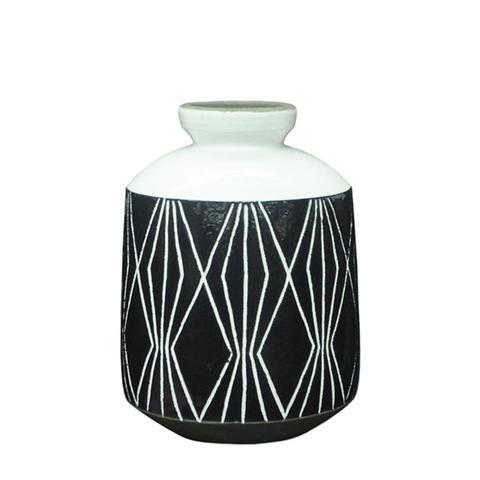 Etched Ceramic Vase