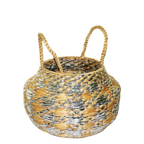 Metallic Woven Basket