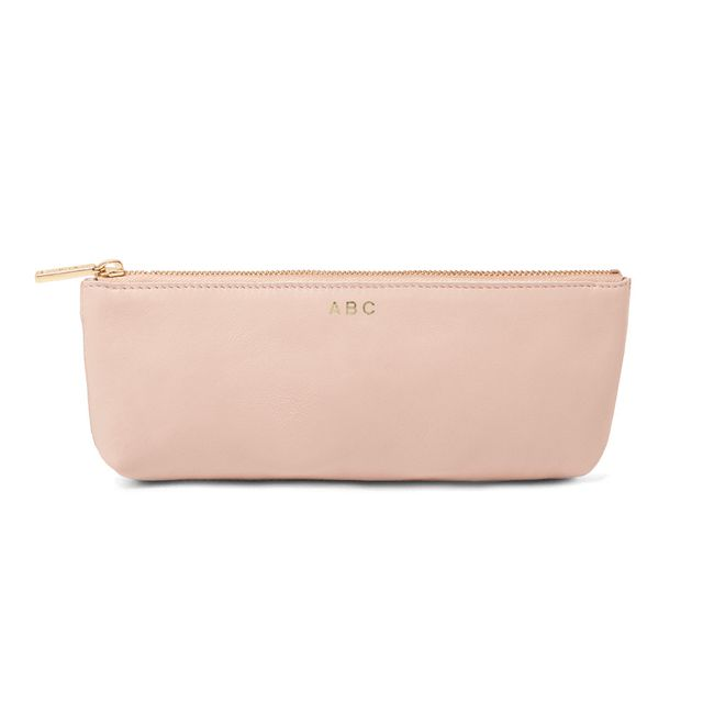Cuyana Leather Cosmetic Pouch