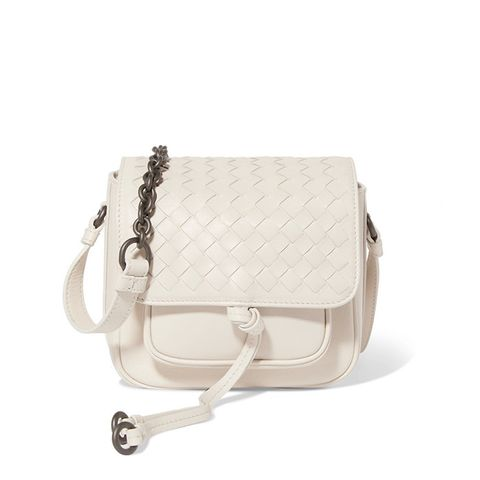 Saddle Mini Intrecciato Leather Shoulder Bag