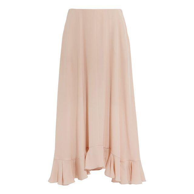 Chloé Ruffled Silk-Crepe Skirt
