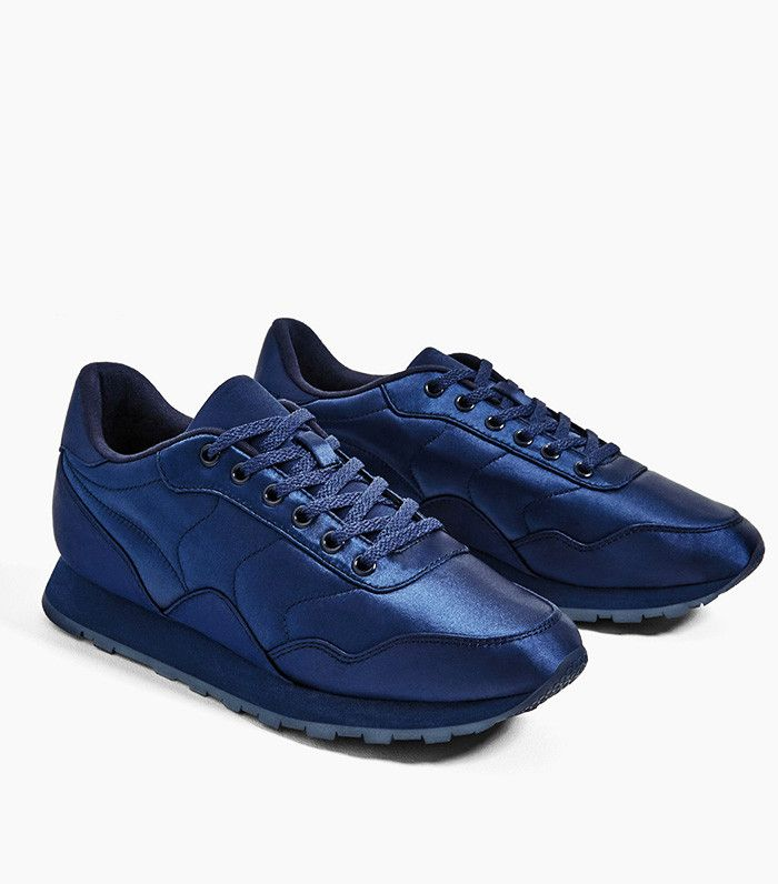 Zara Sateen Sneakers