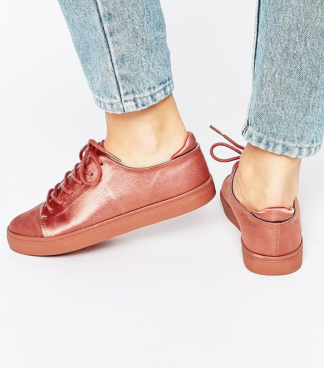 ASOS Darley Clean Lace-Up Sneakers