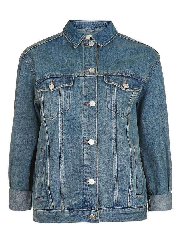 Topshop Oversized Western Denim Jacket