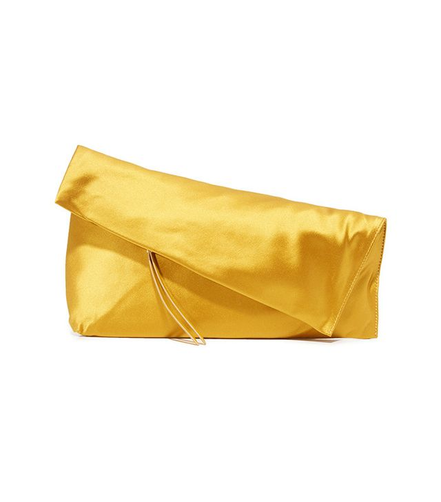 Diane Von Furstenberg Fold-Over Satin Clutch