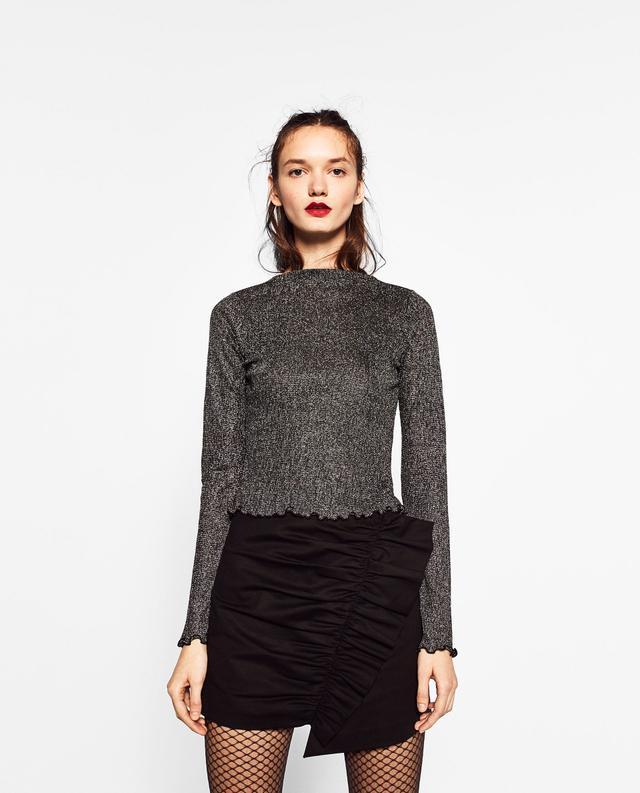 Zara Shiny Crop Top