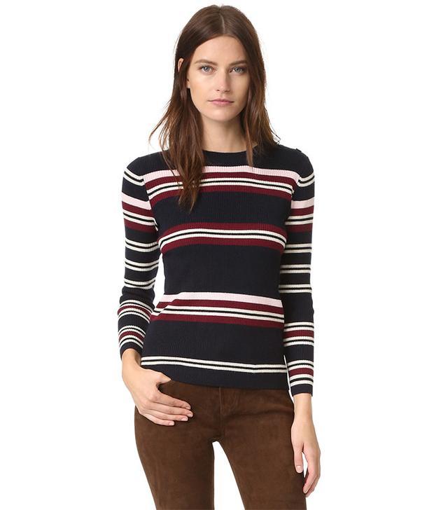 Chinti and Parker Rib Striped Sweater