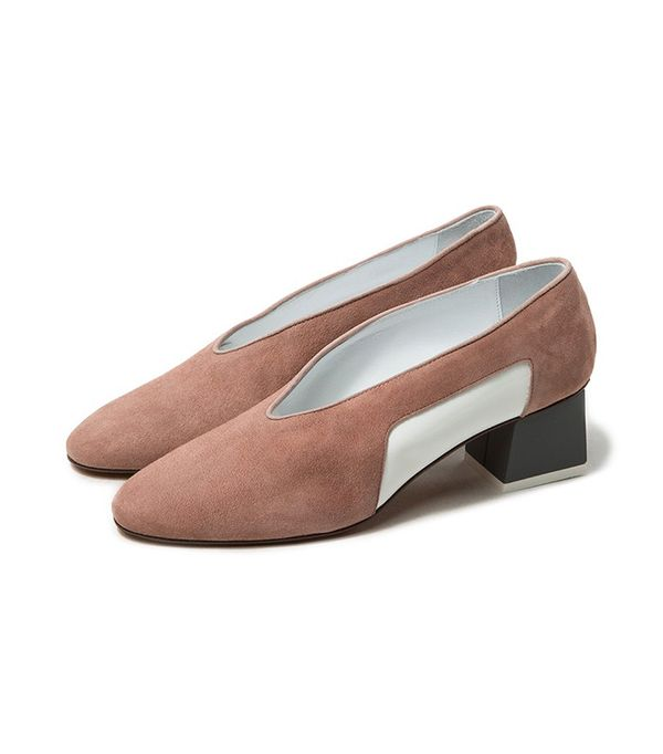 Gray Matters Mildred Patent Pump in Mauve
