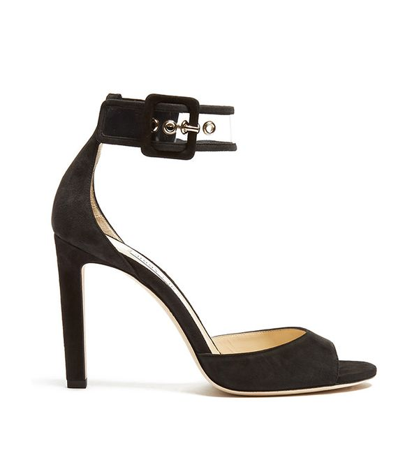 Jimmy Choo Moscow 100mm Suede Sandals