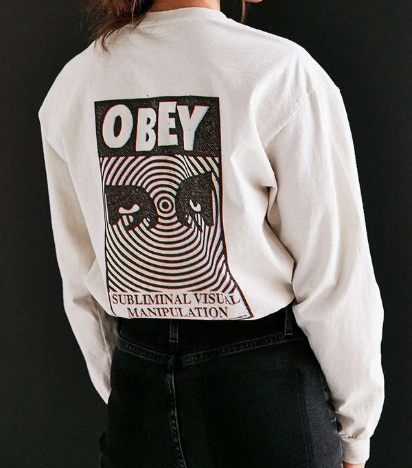 Obey Subliminal Visual Long-Sleeve Tee