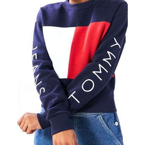 '90s Colorblock Pullover Sweatshirt