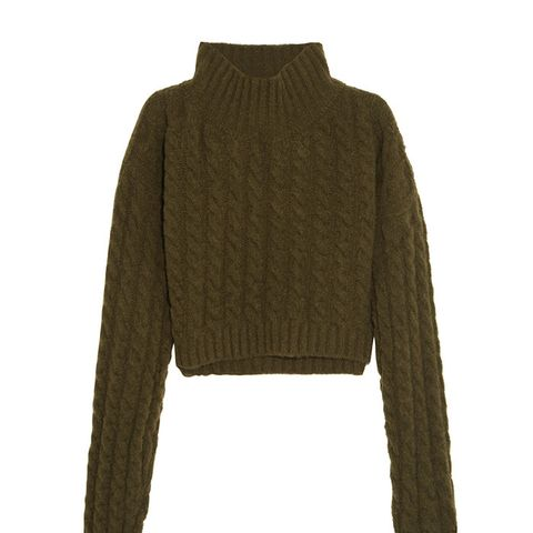 Mud Cropped Sweater