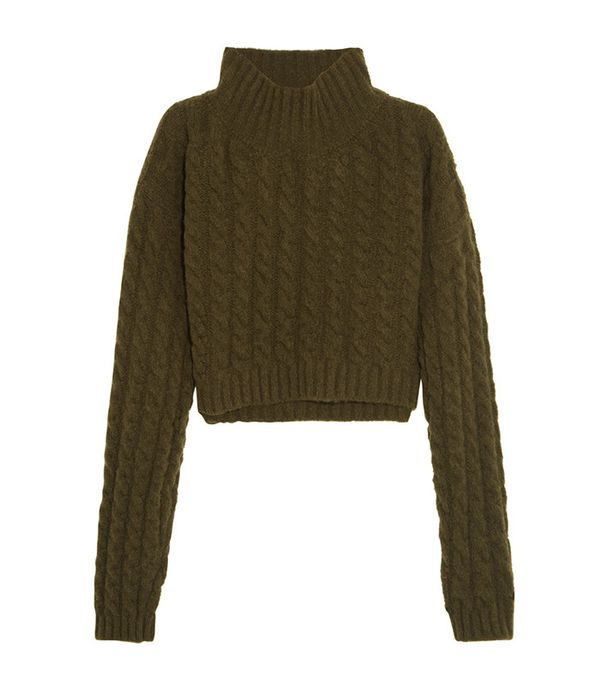 Vivienne Westwood Anglomania Mud Cropped Sweater