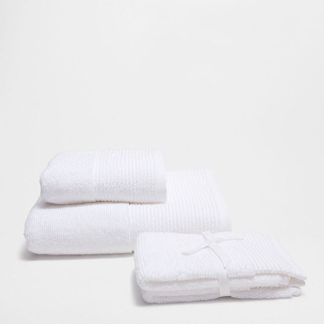 Zara Home Stripd Jacquard Cotton Towel