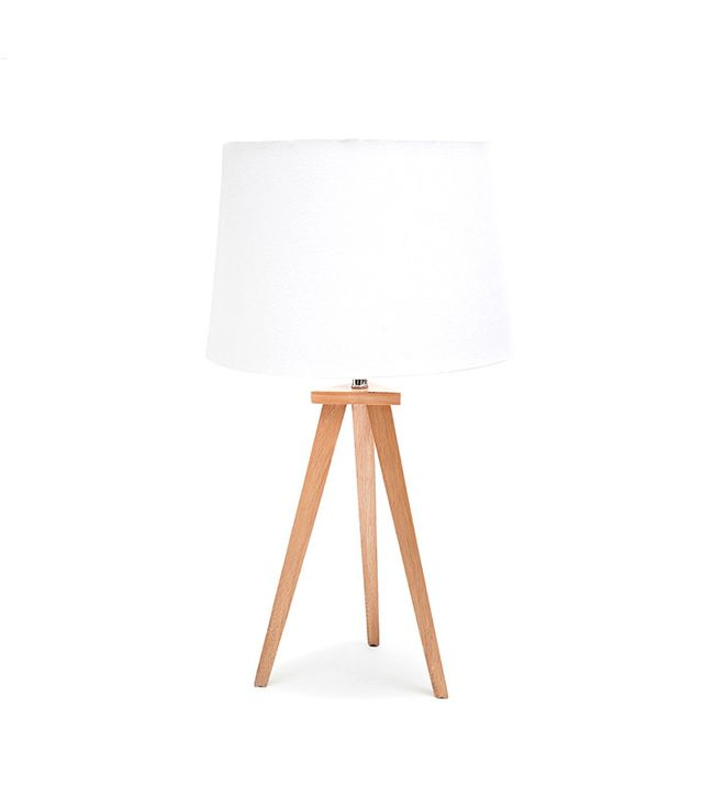 Temple & Webster Nicki Natural Small Tripod Table Lamp