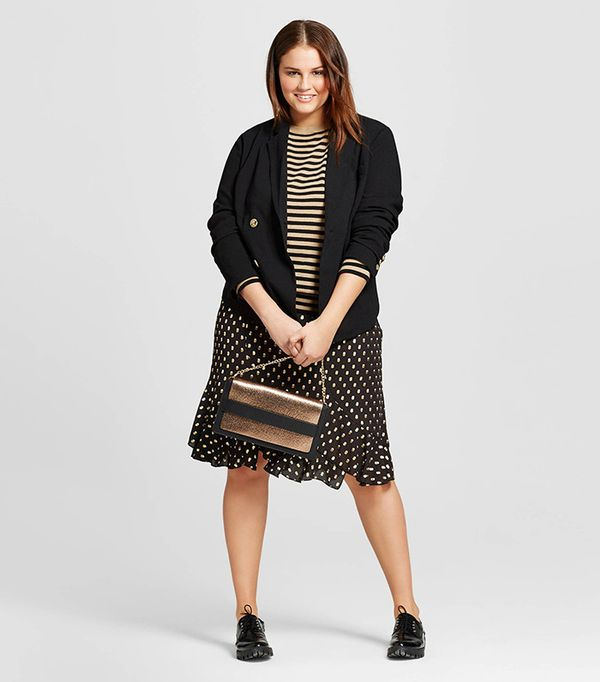 Who What Wear Plus Size Shrunken Blazer