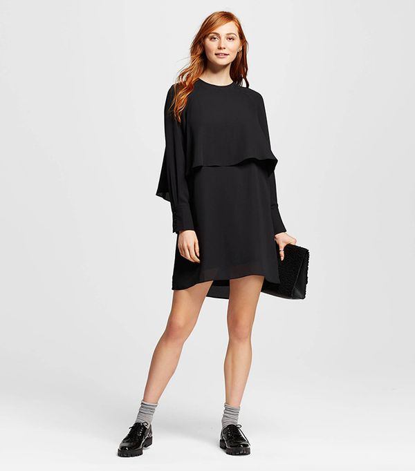Who What Wear Layered Raglan Dress