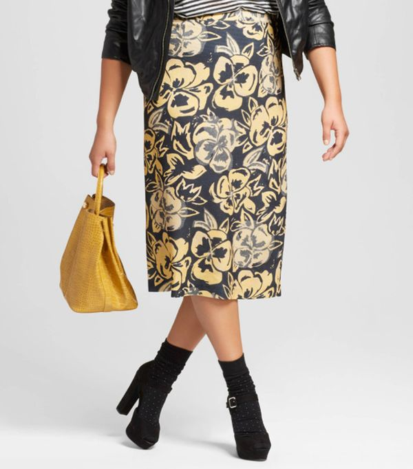 Who What Wear Midi Pencil Skirt