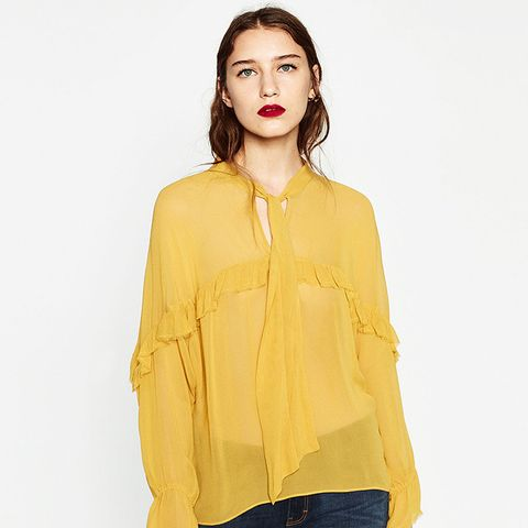 Frilled Flowing Blouse