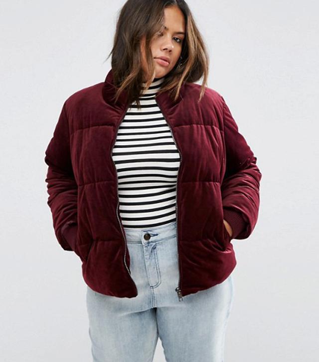 Asos Curve Velvet Jacket