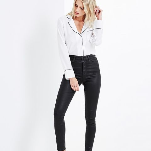 The Mila Leatherette Jeans