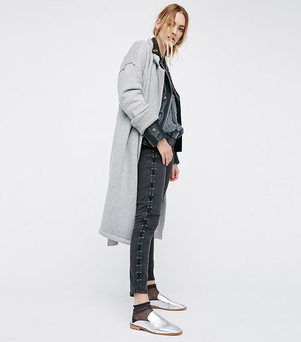 Blank NYC Lace-Up Skinnies