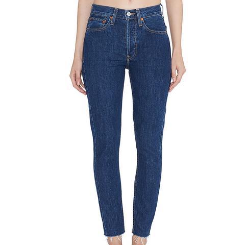 Originals High Rise Ankle Crop Jeans in Rigid Dark 2 Wash